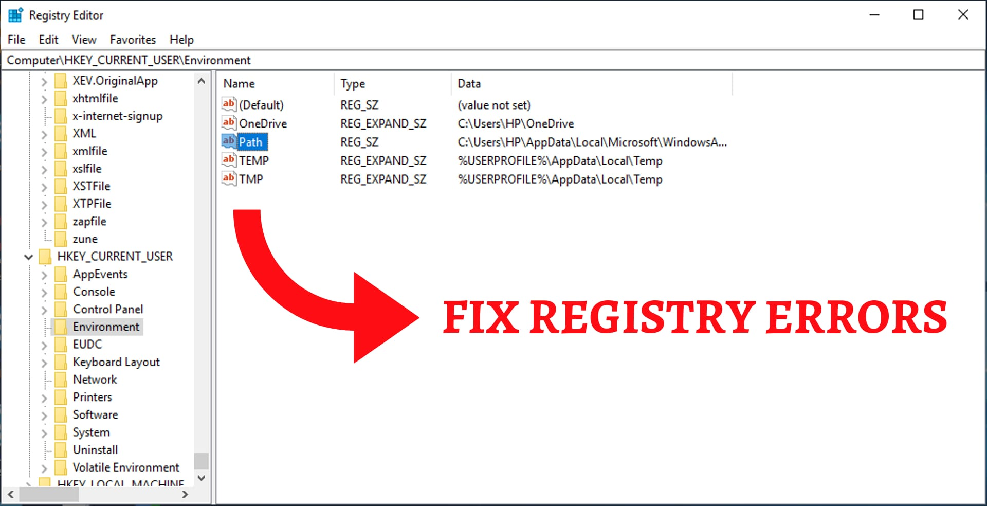 fix registry errors