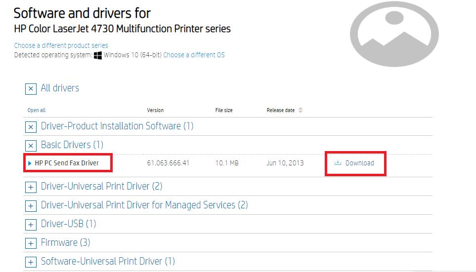 hp driver download
