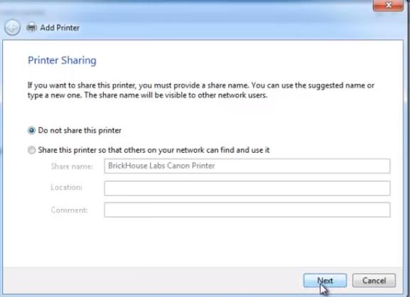 printer sharing windows  to Fix Epson Printer Configuration Problem