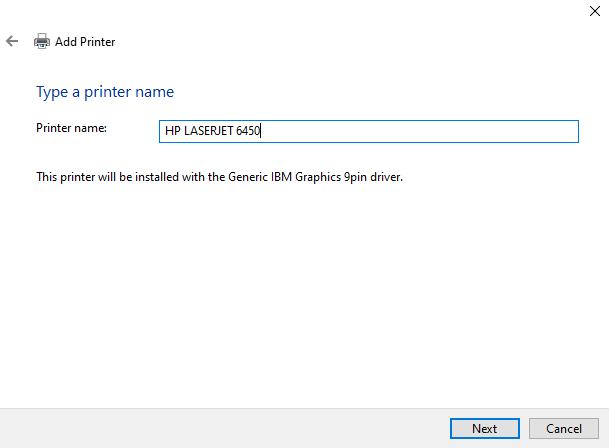 rename the printer