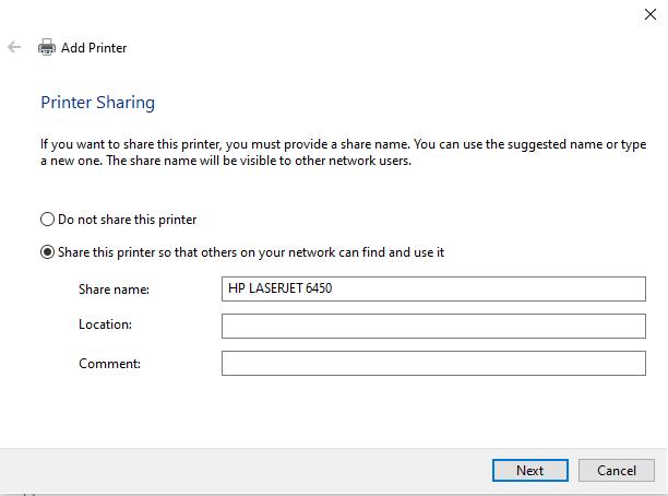 share hp printer