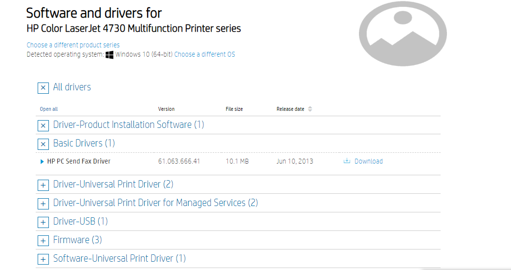software and drivers for hp