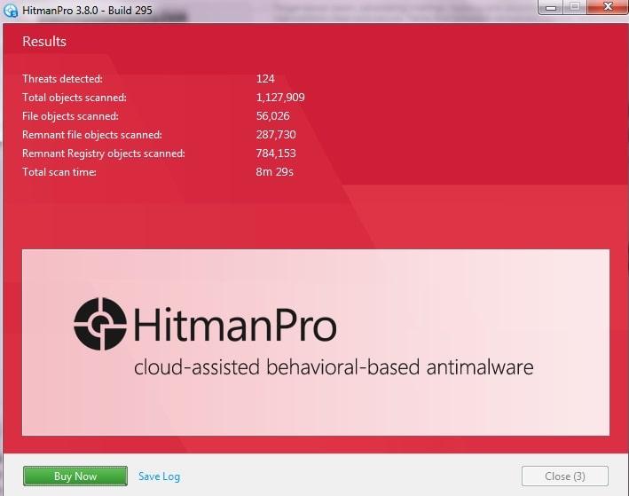 hitman pro threats detected