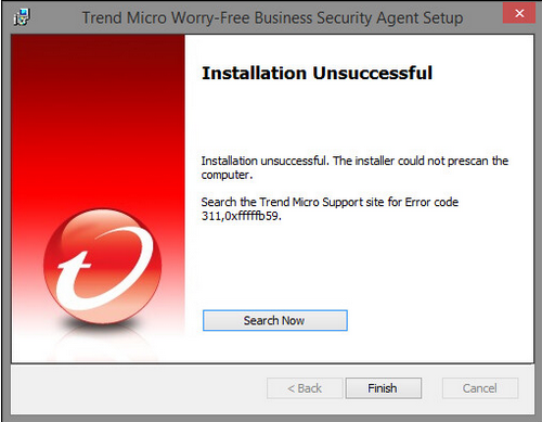 how to fix trend micro anti virus error code 331 0x1f4