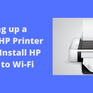 setting up a wireless hp printer