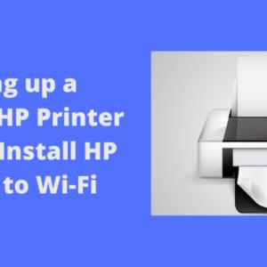 setting up a wireless hp printer