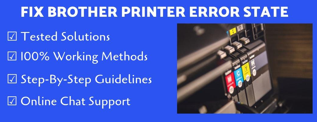 fix brother printer in error state