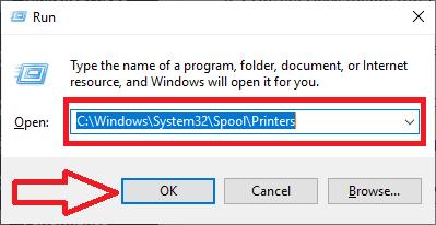 printer folder run box