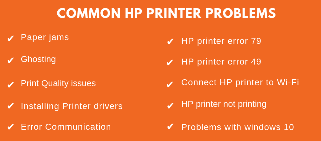 common hp printer problems