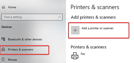 add a printer or scanner - hp printer not printing