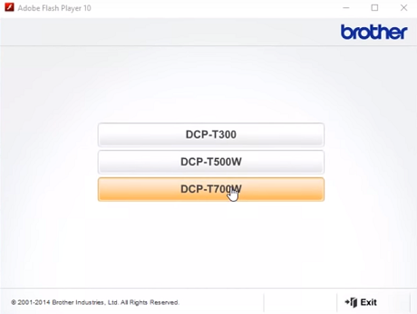 connect brother printer to computer choose model