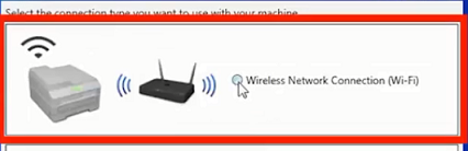 choose wireless connection and click next