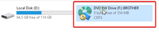 connect brother printer to computer dvd drive