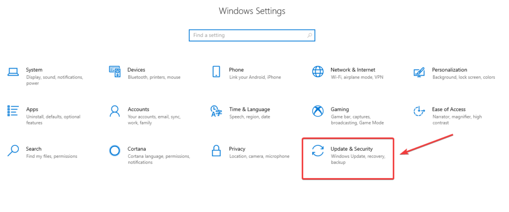 update and security to fix Windows 10 Won't Update