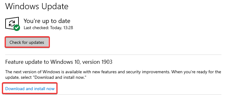 check for updates and download and install now to Fix a Browser not working: