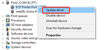 ports com update driver Brother Printer Driver Installation Problem