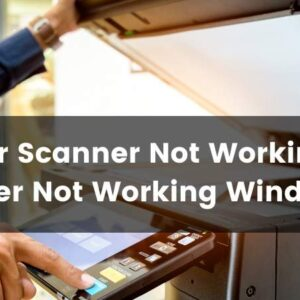 brother scanner not working