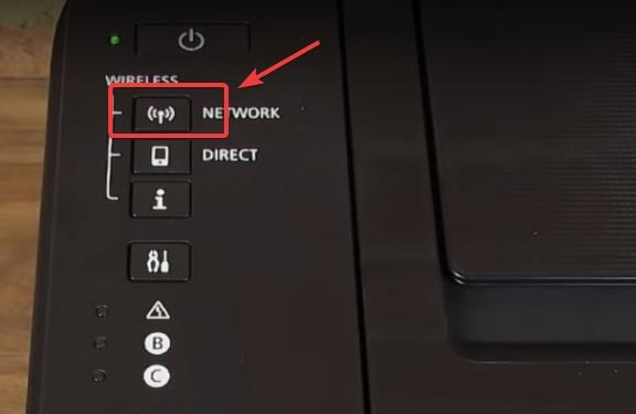 press the network button