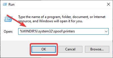spool printers run box