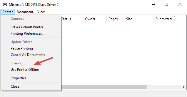 uncheck use printer offline option