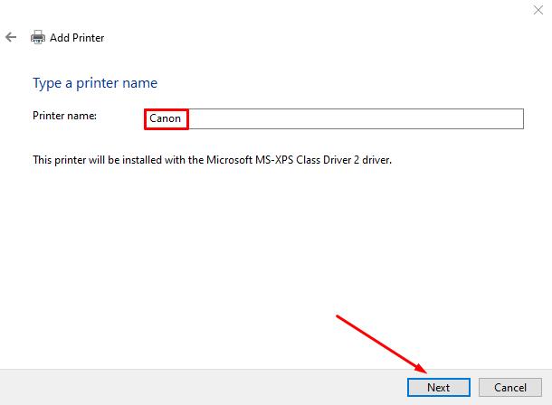 Canon Printer name