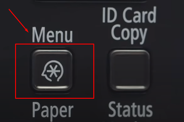 Menu Button Canon Printer