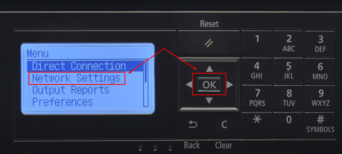 Network Setting Canon Printer