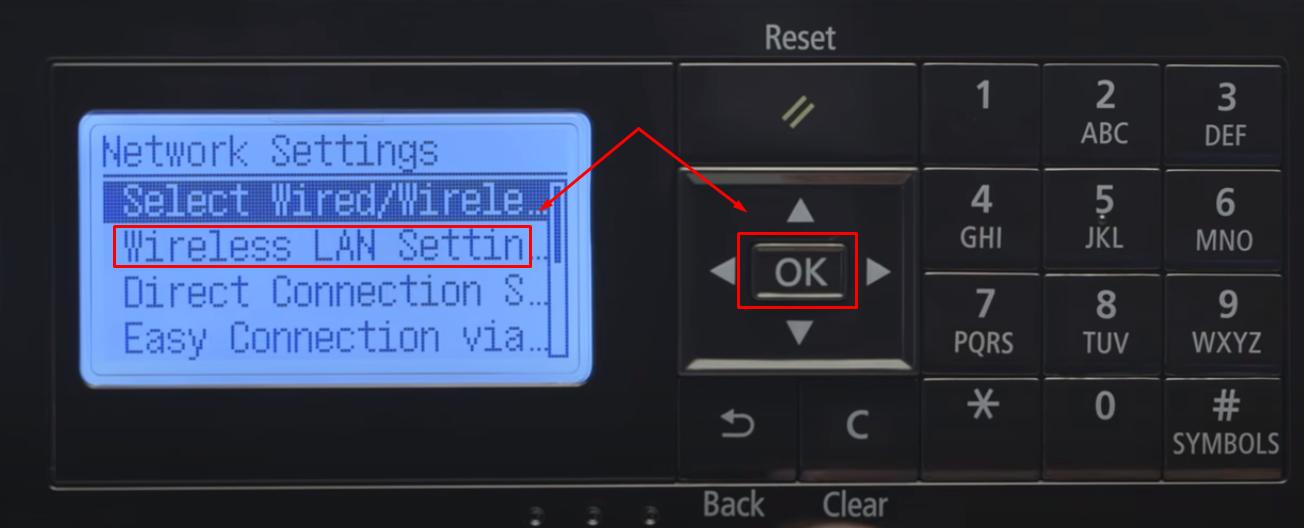 Wireless Lan Setting canon