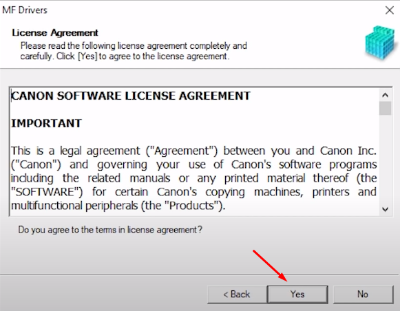 accept license and agreement