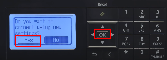 click yes and ok
