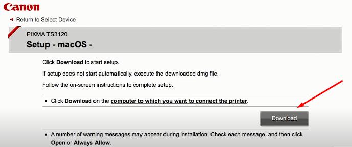 download canon printer software mac