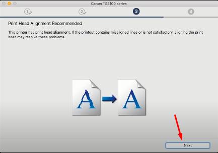 print alignment MAC