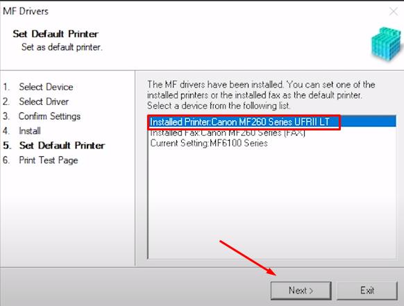 select default canon printer