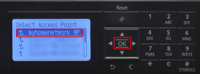 select network canon printer