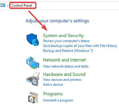 System and Security to Fix Keyboard and Mouse Stop Working