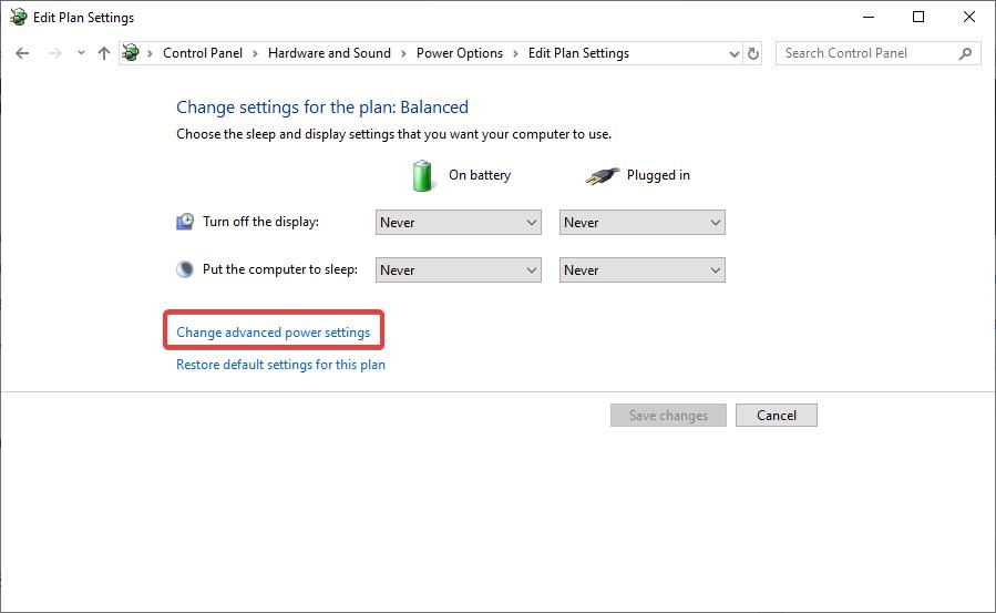 change power settings - Windows 10 Keeps Restarting