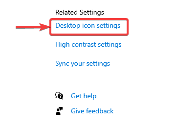 click on desktop icon setting