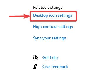 click on desktop icon setting