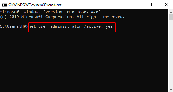 net user administrator to Fix HP Printer Sisetup.exe Blocked by Administrator