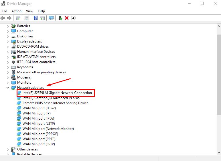 update network drivers to Fix Wi-Fi Certificate Error
