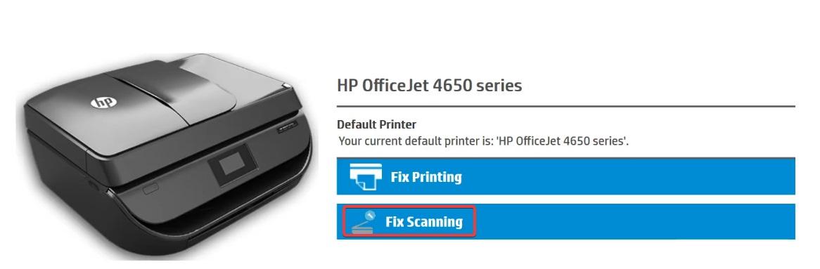 Choose the fix scanning option