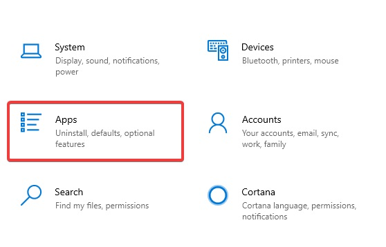 Click on Apps to fix Printer not Printing PDF