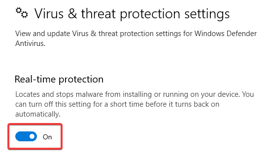 Click on real time protection on - WINDOWS DEFENDER NOT WORKING