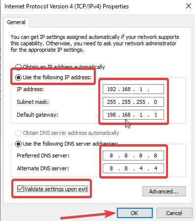 DNS server - Wi-Fi doesn't have a valid IP address - 2020