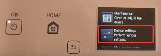 Device settings to fix Canon Printer B200 Error message