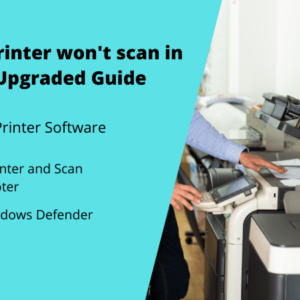 HP printer wont scan in Windows 10