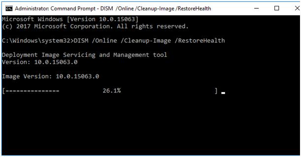 RestoreHealth to Fix unclickable Taskbar in Windows 10