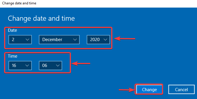 change date and time - WINDOWS DEFENDER NOT WORKING