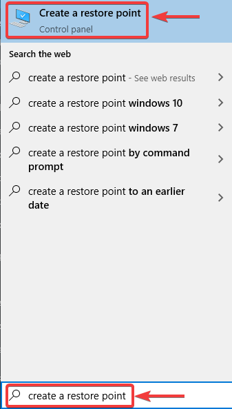 click on create a restore point - HOW TO FIX NORTON 360 REGISTRY CLEANUP ERROR