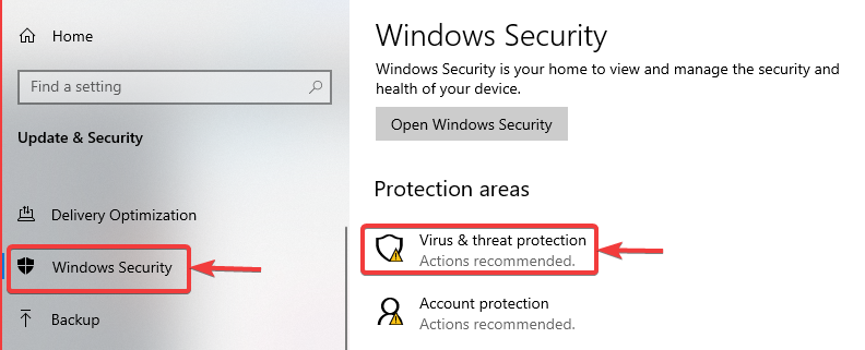 click on virus threat protection - WINDOWS DEFENDER NOT WORKING